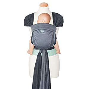 manduca Twist Baby Carrier > Grey-Mint < Baby Carrier and Sling for Newborns & Babies I Organic Cotton I Woven Wrap Conversion I Soft Waist Belt I Can Be Used from Birth (Grey & Green)   4