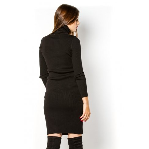 Princesse boutique - Robe pull NOIRE col roulé Noir