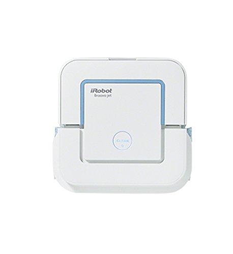 iRobot Braava jet 240 Wischroboter (für Küchen, Badezimmer und andere kleine Bereiche, Reinigt Räume bis zu 25 m²) weiß (1 Küche-bereich)