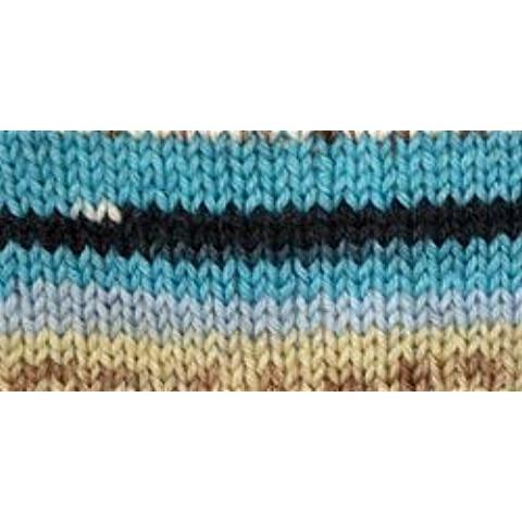 Bulk Buy: Patons Kroy Socks Yarn (6-Pack) Turquoise Jacquard 243455-55201 by Patons Bulk Buy