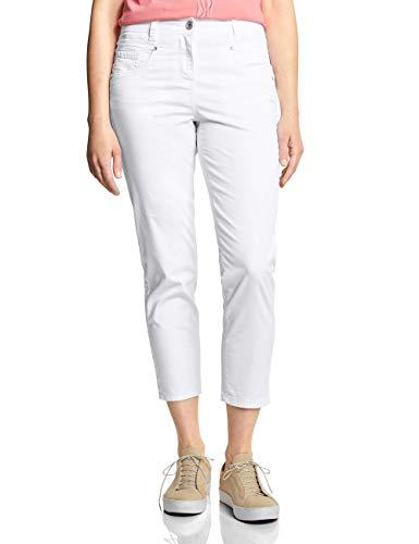 Cecil Damen Tracey Casual Fit Hose mit Punktemuster, White, W31/L26(Herstellergröße:31)