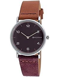 Reloj Bilyfer para Mujer con Correa en Marron y Pantalla en Morado 1F659-L