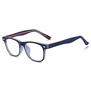ALWAYSUV Blaulicht-Schutzbrillen Kinderbrille Computerbrille Bildschirmbrille mit Klar Linsen