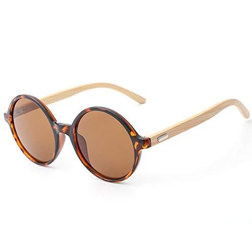 SHEEN KELLY Runden Sonnenbrille hölzerner heller Sonnenbrilleweinlese Holzrahmen UV400 der runden...