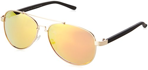 brille Sunglasses Mumbo Mirror, Gold (Gold/Orange 4465), One size (Aviator Hut Mit Brille)