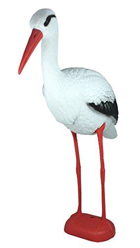 Dekofigur Storch Teichfigur Gartendeko Vogelschreck Geschenk Geburt