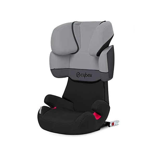 CYBEX Silver Solution X-Fix Child's Car Seat, For Cars with and without ISOFIX, Group 2/3 (15-36 kg), From approx. 3 to approx. 12 years, Cobblestone Cybex Sturdy and high-quality child car seat for long-term use - For children aged approx. 3 to approx. 12 years (15-36 kg), Suitable for cars with and without ISOFIX Maximum safety - 3-way adjustable reclining headrest, Built-in side impact protection (L.S.P. System) 11-way adjustable, comfortable headrest, Adjustable backrest, Comfortable seat cushion 1