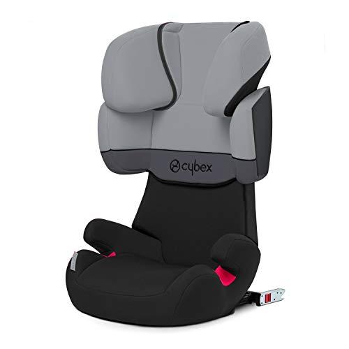 Cybex Silver Solution X-Fix, Seggiolino Auto per Bambini, Gruppo 2/3/15-36 kg, da 3 fino a 12 Anni Circa, per Auto Con e Senza ISOFIX, Grigio/Light Grey/Cobblestone