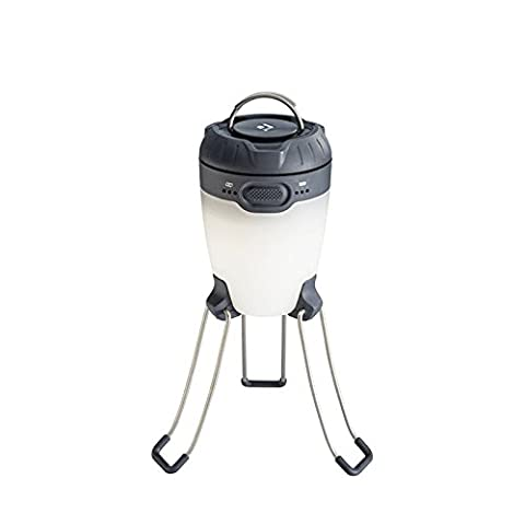 Black Diamond Apollo Lantern Graphite / Laterne und Ladegerät in einem - helle LED-Laterne zum Campen und laden von elektronischen Geräten / Mini-Campinglampe, max. 225 Lumen
