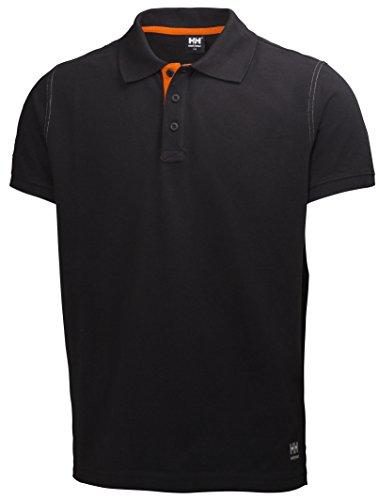 Helly Hansen Workwear Leichtes Poloshirt Oxford robustes Arbeitsshirt 990, Größe 3XL, schwarz, 79025