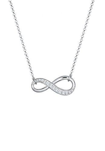 Elli Damen-Halskette mit Anhänger Infinity Unendlichkeit Liebe Freundschaft Zirkonia silber 925 - 45cm Länge