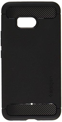 HTC U11 Hülle, Spigen® [Rugged Armor] Karbon Look [Schwarz] Elastisch Stylisch Soft Flex TPU Silikon Handyhülle Schutz vor Stürzen und Stößen Schutzhülle für HTC U11 Case Cover Black (H11CS21938)