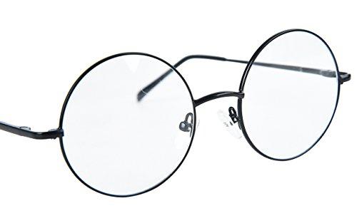 9da3d011b5 Agstum Round Retro Metal Prescription Ready Glasses Frame Clear Lens ...
