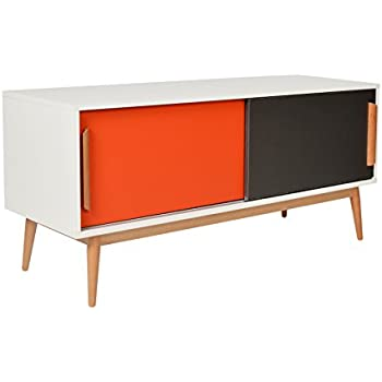 ts ideen sideboard kommode lowboard tv bank weiss grau dunkelgrau 120 x 55 cm k che. Black Bedroom Furniture Sets. Home Design Ideas