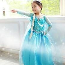 Vestido Niñas Disfraz ANNA ELSA (120 (4-5 años))