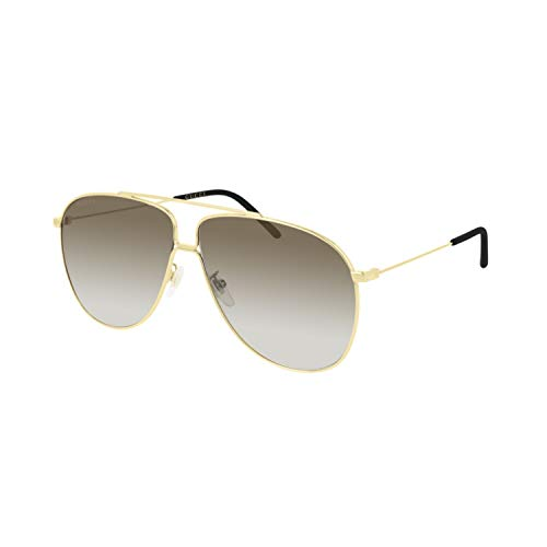 Gucci Sonnenbrillen GG0440S Gold/Brown Shaded Herrenbrillen