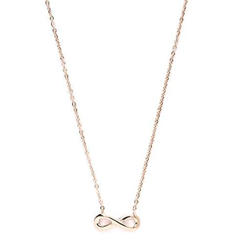 Happiness Boutique Damas Collar Infinito en Oro Rosa | Collar Delicado con Dije Infinito en Estilo Minimalista Libre de