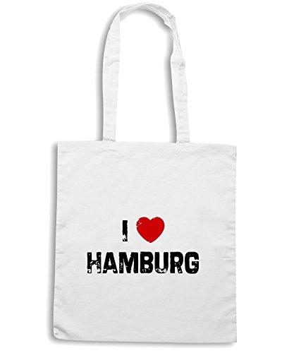T-Shirtshock - Borsa Shopping TLOVE0003 i hamburg Bianco