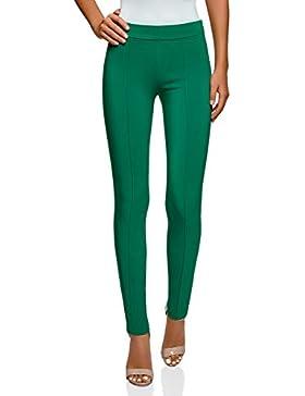 oodji Ultra Mujer Pantalones Básicos Ajustados