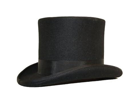 Hochwertiger Zylinderhut, satingefütterter Hut aus 100%