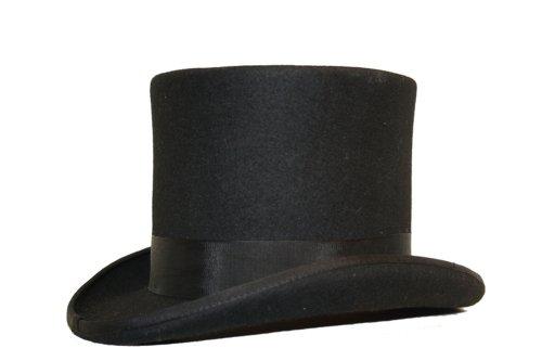 VIZ Zylinder aus handgefertigtem Wollfilz, Schwarz