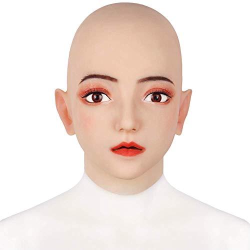 Silikon Weibliche Maske Emily Realistische Transgender Latex Sexy Cosplay für Männer Echte Halloween Party Supplies