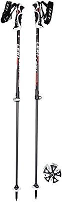 LEKI rodmann bastones de esquí Peak Vario S, blanco/gris/rojo, 110 - 140 cm, 6346762