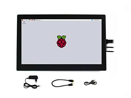 Waveshare 13.3inch HDMI LCD (H) (with case) IPS 1920x1080 Resolution Capacitive Touch Screen with Toughened Glass Cover Supports Raspberry Pi BB Black Raspbian Ubuntu 30 Tilt Wall Mount