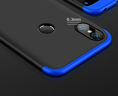 low cost a83c6 2be56 Annure3 in 1 Double Dip Case All Angle 360 Protection Matte Hard Back Case  Cover for Xiaomi Mi Redmi Note 5 Pro - Black with Gold Buy Annure3 in 1 ...
