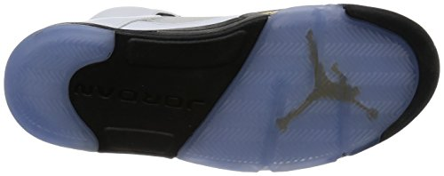 Nike Air Jordan 5 Retro, Chaussures de Sport Homme Blanc (white/black-mtlc gold coin)