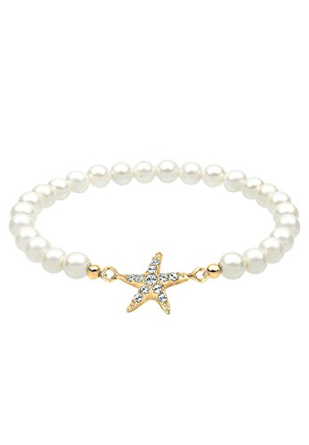 Elli Armband Seestern Swarovski Kristalle 925 Silber vergoldet 0211532916