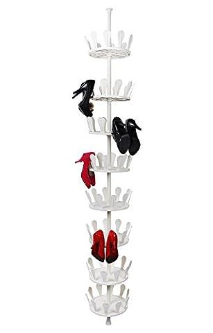 WOLTU SR0018 Plateau chaussures rotatif Rangement chaussures murale carrousel de rangement