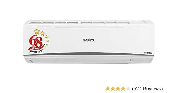 Sanyo 1 Ton 3 Star Inverter Split AC (Copper, SI/SO-10T3SCIA, White)