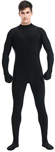 Speerise Erwachsene Ganzkörperanzug Lycra Spandex Bodysuit Unitard Kostüm Zentai Anzug ohne Kapuze - Schwarz - - Schwarz Unitard Kostüm