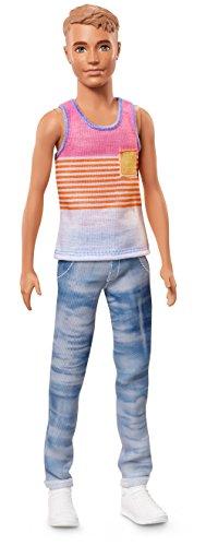 Barbie Mattel FNH43 - Ken Fashionistas Puppe in Streifenshirt mit Sonnenbrille