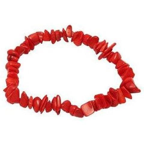 Cyllene Fantaisie–Bracciale morbida Corallo asamaï Rosso