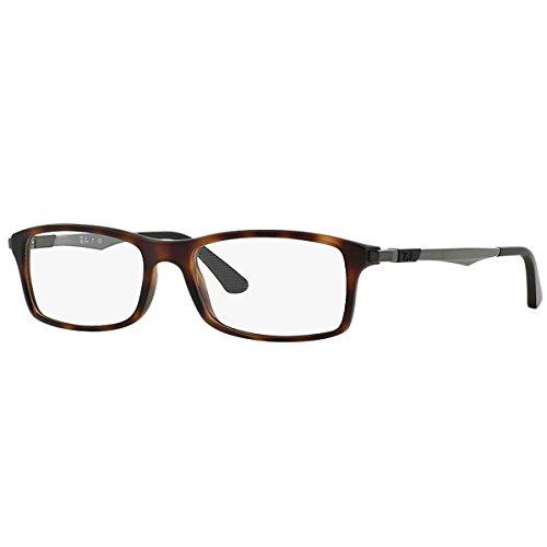 Ray Ban Optical Montures de lunettes RX7017 Pour Homme Black, 54mm 5200: Tortoise