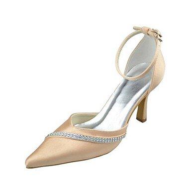 RTRY Donna Scarpe Matrimonio Della Pompa Base Raso Elasticizzato Primavera Estate Party Di Nozze &Amp; Sera Crystal Stiletto Heel Champagne 3A-3 3/4In Champagne Us9 / Eu40 / Uk7 / Cn41 US10.5 / EU42 / UK8.5 / CN43