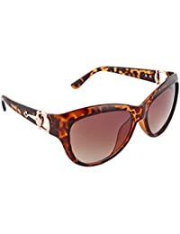 Olvin UV- Protected (OL355-04) Brown Womens Oval Sunglasses Good Stuff With Premium Looks