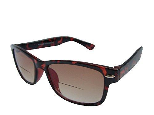 Bifokal-Sonnenbrille, Lesebrille, mit UV-Schutz, Braun