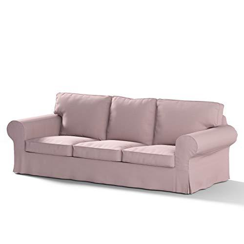 Ektorp Sofa (Dekoria Ektorp 3-Sitzer Sofabezug Nicht ausklappbar Sofahusse passend für IKEA Modell Ektorp rosa)