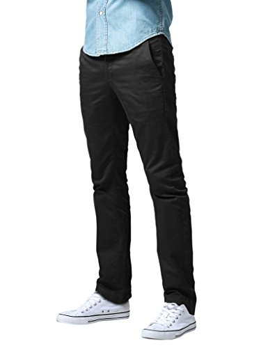 Incontro 8036 - pantaloni sottili Men (8087 negro (Nero),34 (si tratta di 44))