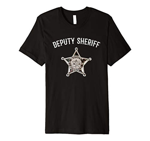 Funny Stellvertretender Sheriff Halloween-Kostüm Tshirt für Herren Kinder