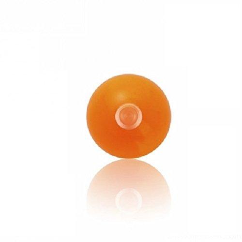 Acrylique–Boule à visser–Uni–Lot de 10baguettes (Piercing Embout Boule à visser pour, labrets etc.) T-RS - rose transparent