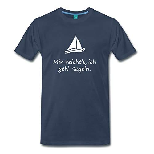 Spreadshirt Segelboot Mir Reicht's Ich GEH' Segeln Spruch Männer Premium T-Shirt, M, Navy