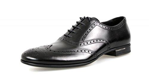 Prada 2EA118, Herren Mokkasins, Schwarz - Schwarz - Größe: 43 - Männer Kleid Schuhe Prada