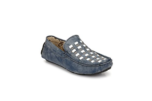 Zebx Perfect Comfortable Light Weight Men Synthetic Leather Slip On Grey Loafers