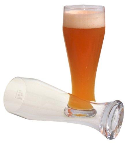 2 Weizenbiergläser mit 0,5 Liter Füllstrich # schwere Gläser # Gastronomiebedarf