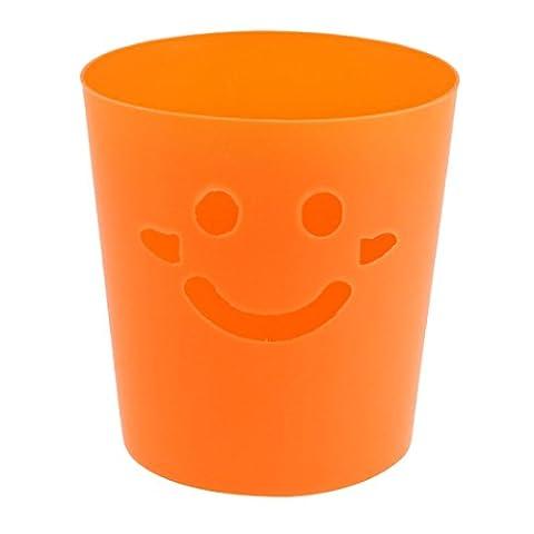 sourcingmap® Conception de visage souriant en Plastique Mini Poubelle Seau de stockage
