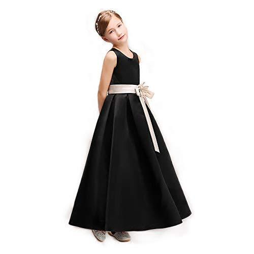 ZMDHL Kleid Prinzessin, Blumenmädchen Edles Abendkleid Mädchen Weihnachten Brautjungfer Brautkleid Rock 3-8 Jahre alt,130cm (High Halloween-kostüme Junior)